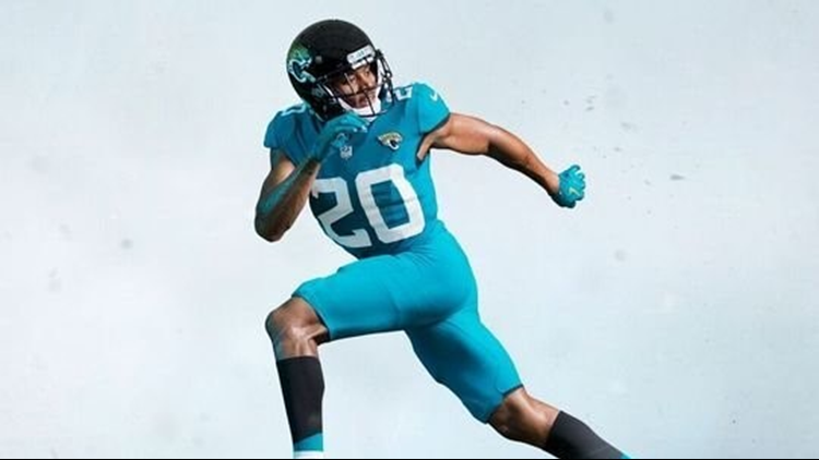 2fcb2b55e28 Jacksonville Jaguars' ditch two-tone helmet | 9news.com