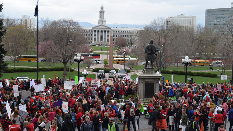 Teachers kick off march on Capitol as walkout begins