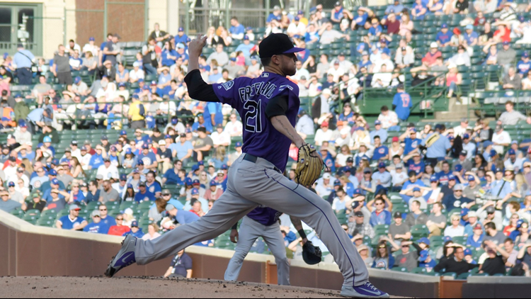 Arenado hits 2 HRs to back Anderson, Rockies pound Cubs