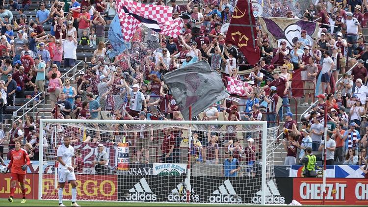 Colorado Rapids Fans crowd