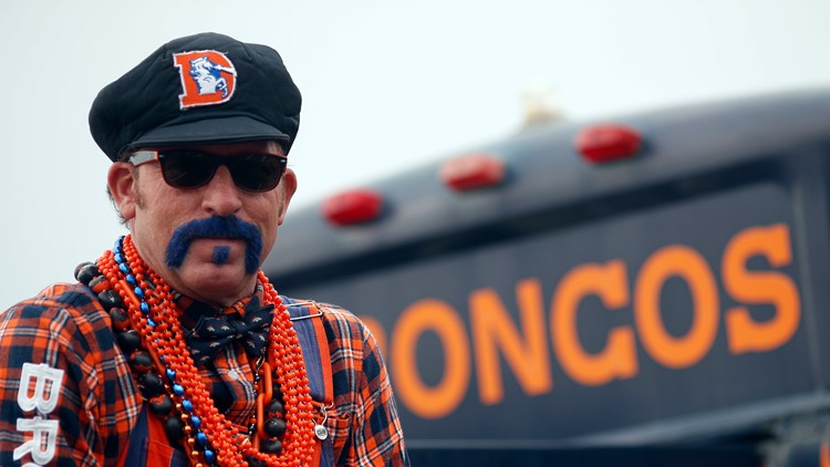 Denver Broncos fan Don Clark tailgates
