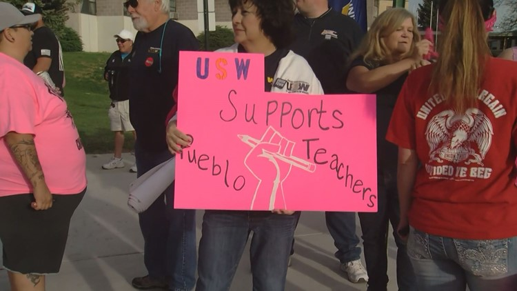 As a teacher strike in Pueblo concluded its third day, the union said in a Facebook post that the district refuses to meet with them until the weekend.