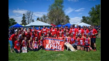 This office manages to get a huge group together for the Colfax Marathon relay