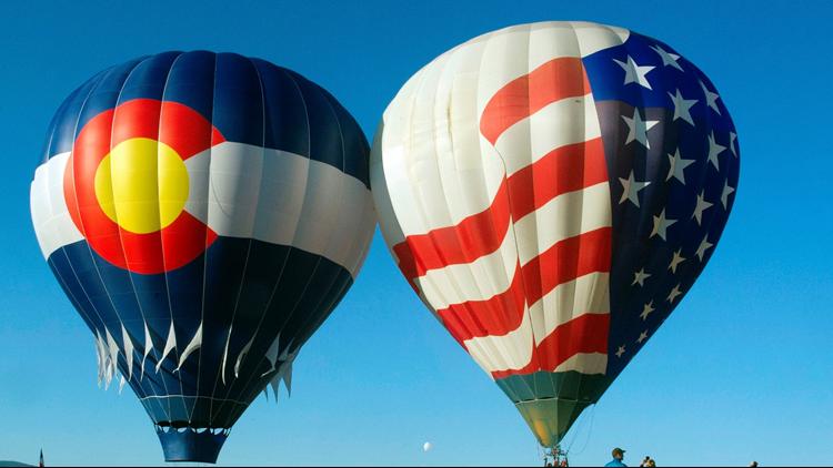 hot air balloons colorado and usa balloon