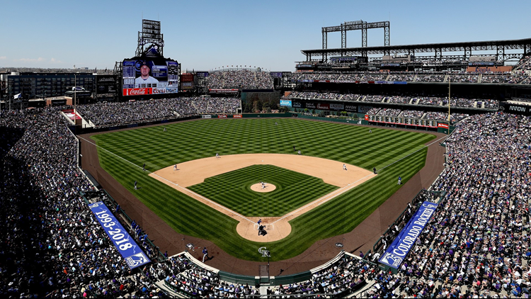 Cropped Coors Field Colorado Rockies 2018