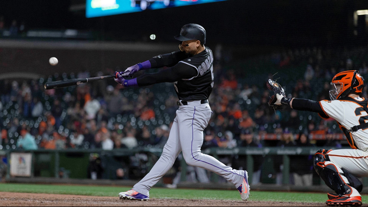 Carlos Gonzalez's two-run single in the 12th inning gave the Colorado Rockies a 5-3 victory over San Francisco Giants Thursday night