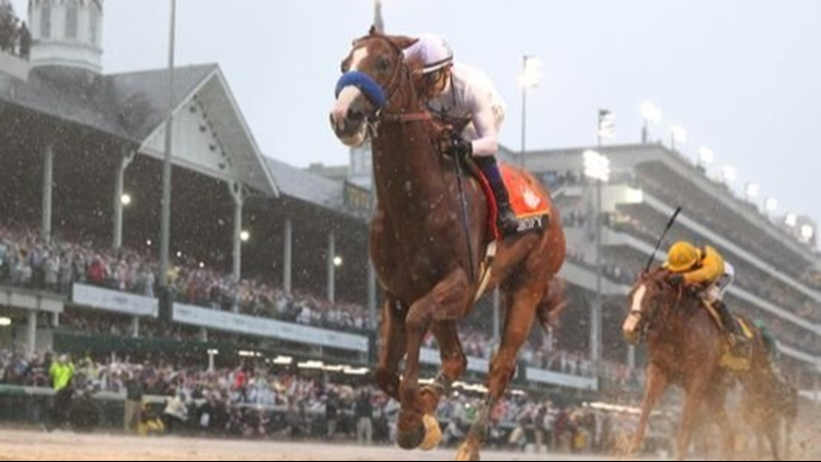 Kentucky Derby winner Justify drew the No. 7 post position for Saturday's Preakness Stakes and was installed as a heavy 1-to-2 favorite. The Preakness is scheduled to run Saturday, May 19 at 4 p.m. on 9NEWS.