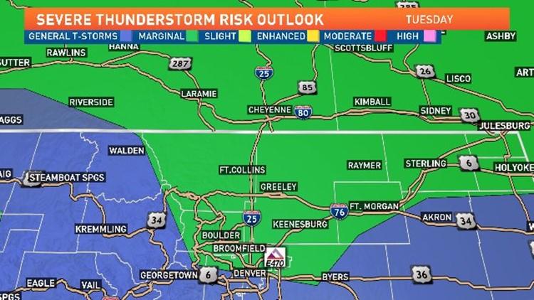 Rain Possible For I 25 Corridor Through The Evening 9news Com