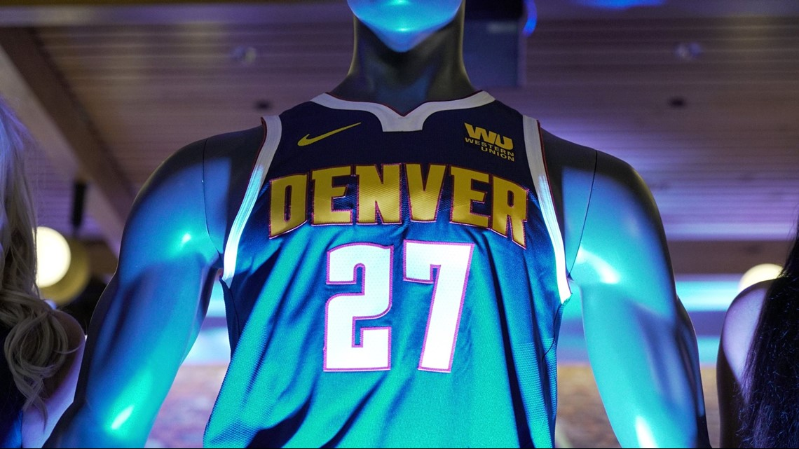pretty nice cbc57 e4da0 Denver Nuggets unveil new logo, jerseys | 9news.com