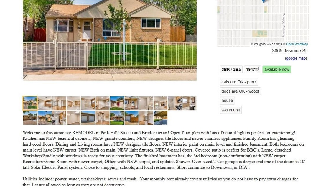 Tremendous Denver Homeowners House Listed As For Rent On Craigslist Download Free Architecture Designs Scobabritishbridgeorg