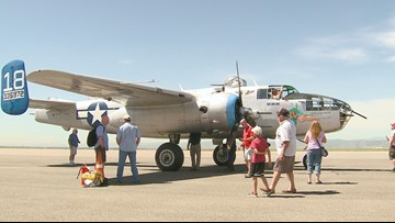 Yes, that was a WWII bomber in the sky Friday (and you'll love who was aboard!)