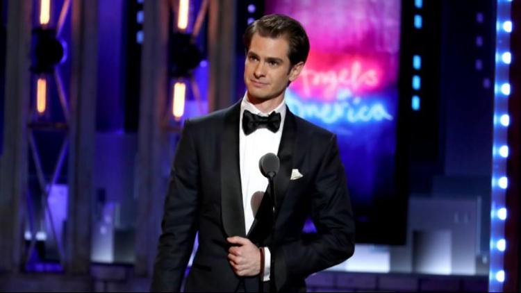 Andrew Garfield Dedicates His Teary Tonys Speech to Those Who Just Want a Cake Baked
