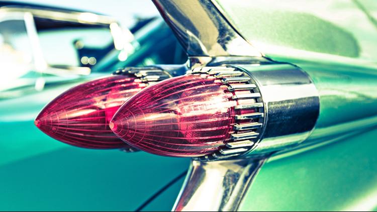 Classic Cadillac tail car show