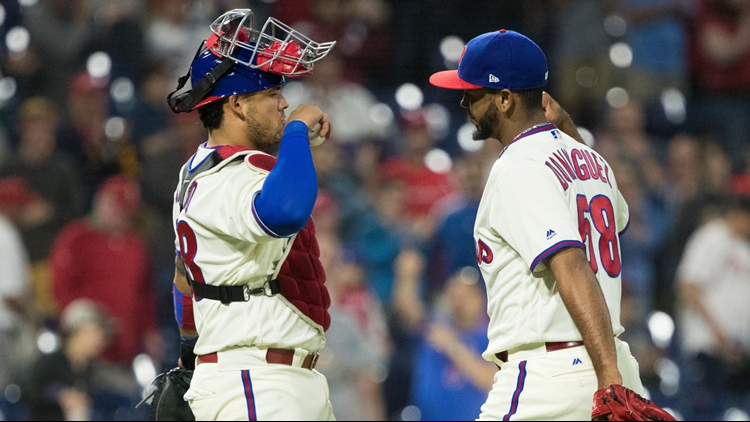 Aaron Nola struck out 10 in another dominant performance, Scott Kingery hit a three-run homer and the Philadelphia Phillies beat the Colorado Rockies 5-4 on Tuesday night.