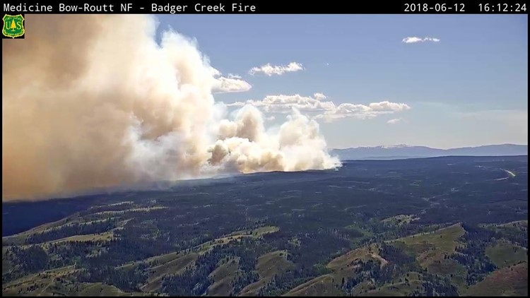The Badger Creek Fire began Sunday and has grown to nearly 18,000 acres as of Saturday afternoon, according to Medicine Bow-Routt National Forest. It remains at 0 percent containment.