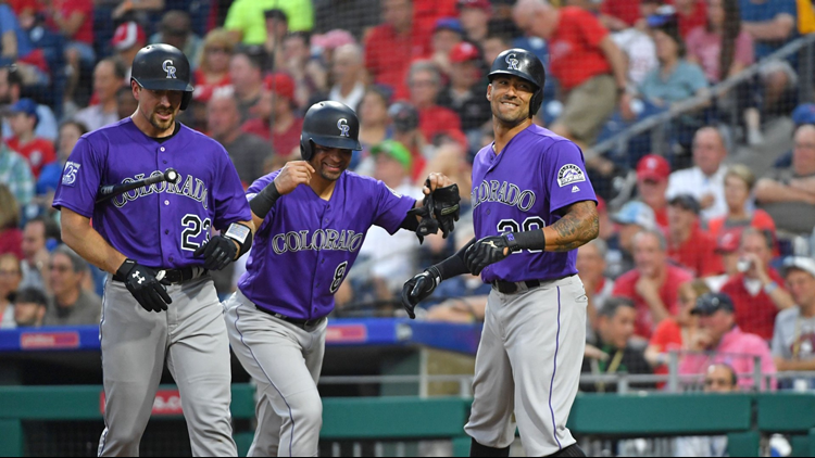 Ian Desmond hit a two-run homer in a five-run fourth inning, Tyler Anderson pitched seven strong innings and the Colorado Rockies routed the Philadelphia Phillies 7-2 on Wednesday night to end a five-game losing streak.