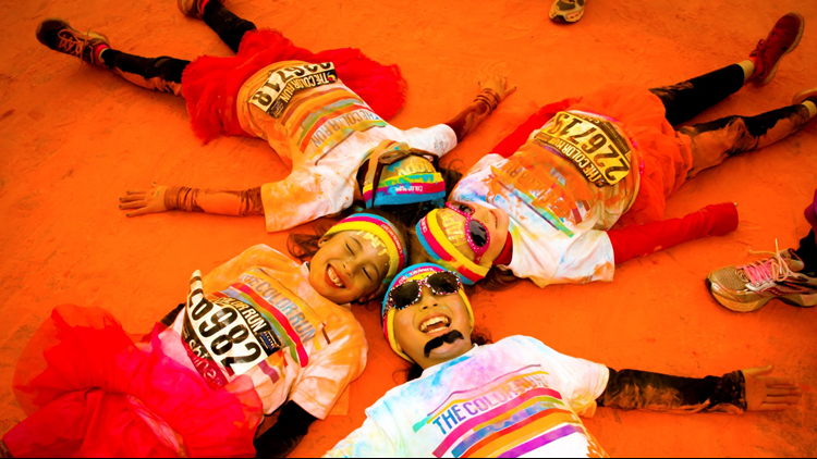The Color Run orange