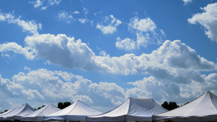expo tents festival art summer cropped