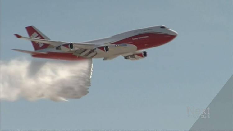 Colorado has signed a contract to use a large firefighting plane that lives in Colorado Springs, but doesn't fight the majority of Colorado fires.