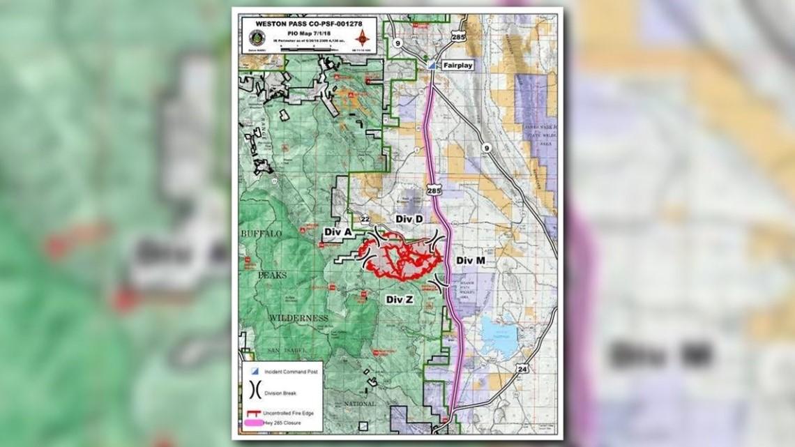 Weston Pass Fire Forces Evacuations Surpasses 6 400 Acres 9news Com