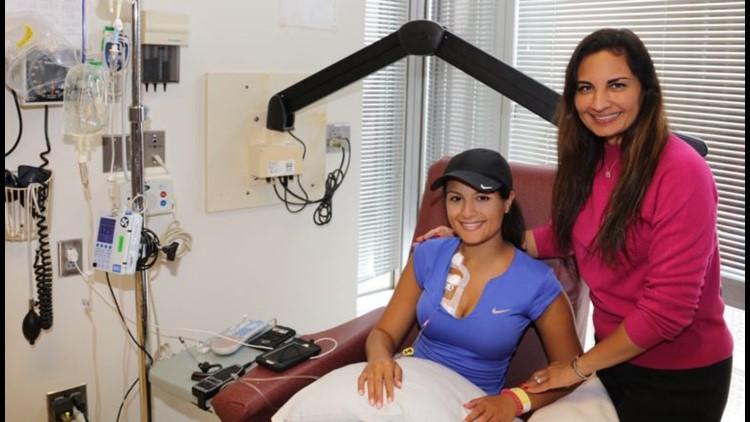 Natasha Verma undergoing chemotherapy at Beth Israel Boston.