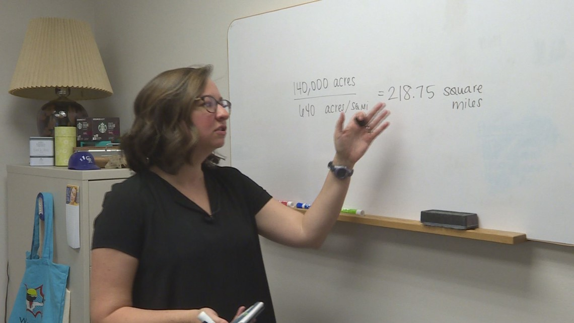 A Math Professor Tells Us How Many Square Miles Of Land Are Burning In Colorado 9news Com