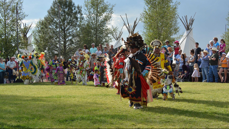 Cheyenne Frontier Days indian village distance