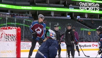 MIC'd Up: Mikko Rantanen takes the ice with blind hockey players