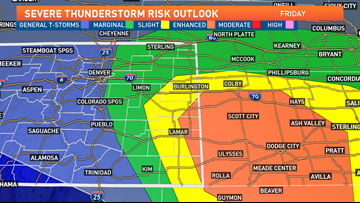 Severe storms possible in Denver metro area, Eastern Plains