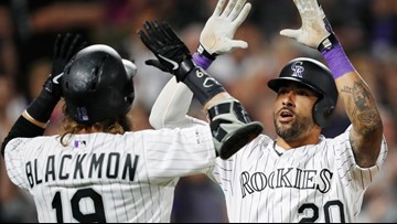 Blackmon has 4 hits, Desmond hits slam as Rockies top Padres