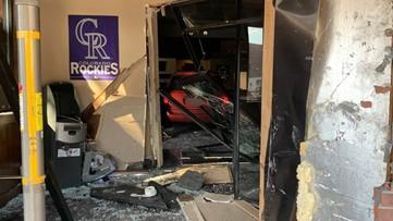 Burglars drive stolen minivan into Littleton business