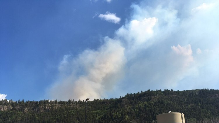 The 250-acre fire was first reported on Saturday afternoon and is burning roughly 30 miles west of Gunnison and two miles south of U.S. Highway 50 near the Blue Mesa Reservoir.