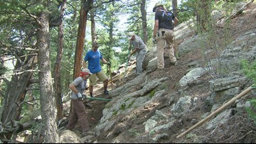 Old mining paths transformed into hiking, mountain biking trails