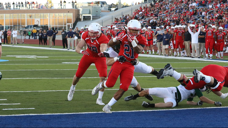 CSU Pueblo Thunderwolves Football touchdown