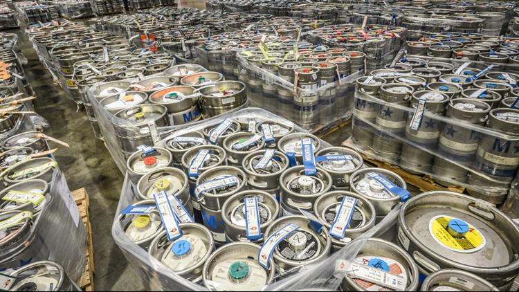Great American Beer Festival kegs