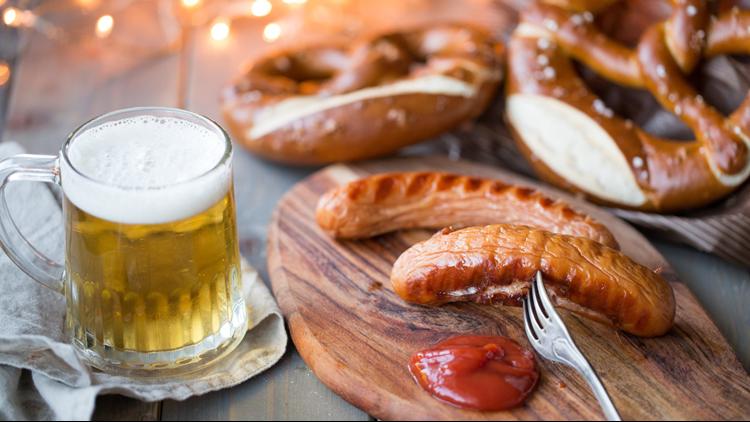 Oktoberfest beer festival pretzel