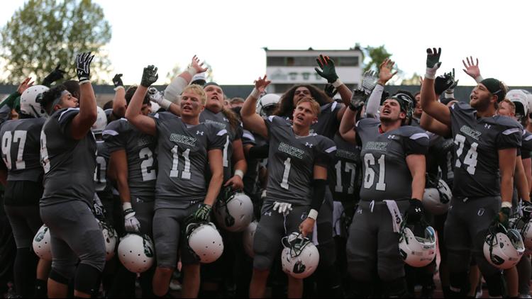 Adams State Football celebration