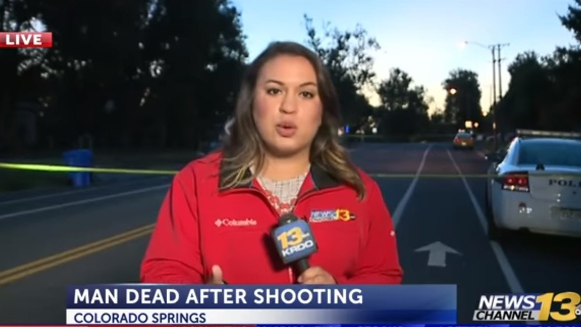 News crew dives to safety after car plows through crime