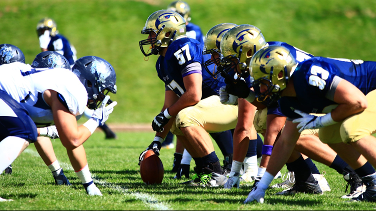 Fort Lewis College football line of scrimmage