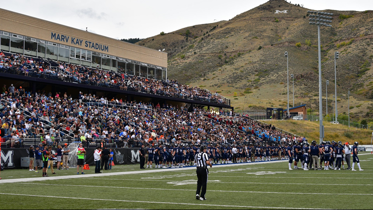 Colorado School of Mines football M mountain