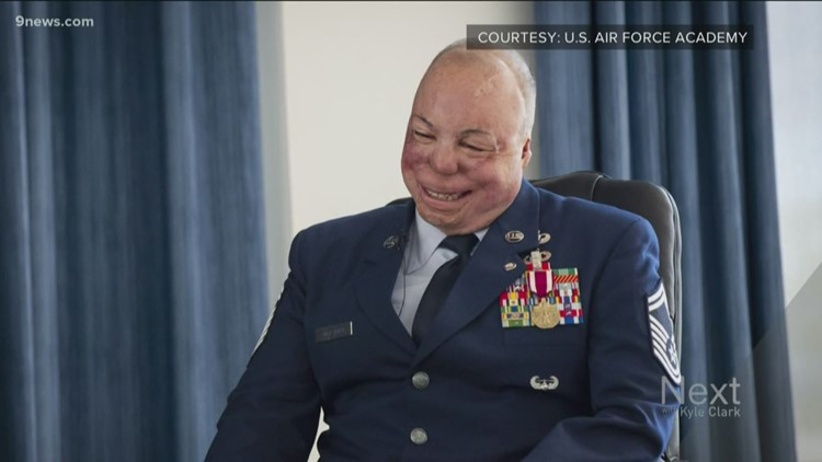 Senior Master Sergeant Israel Del Toro records message of gratitude to vets for DIA train