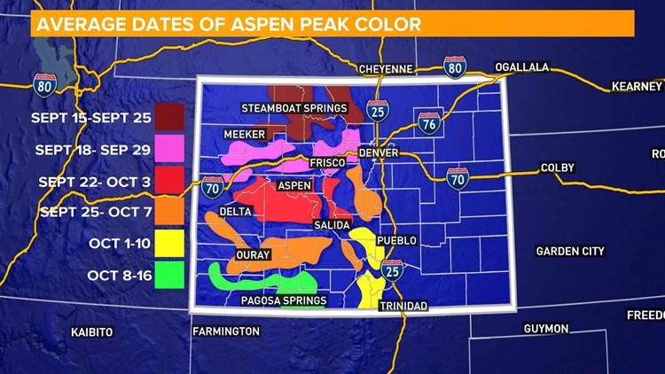 Colorado Fall Colors Map Your 2018 Colorado fall colors questions answered | 9news.com