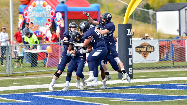 Colorado School of Mines football TD celebration