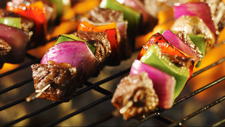 kabobs skewers grill grilling