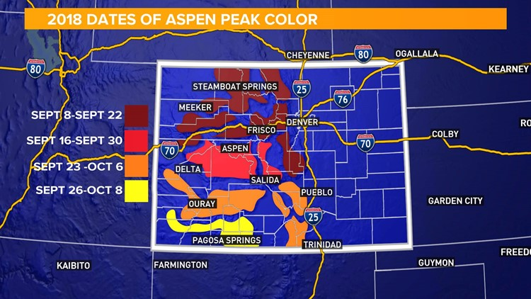 Colorado Fall Colors Map Colorado fall colors guide: Where and when to see the best fall