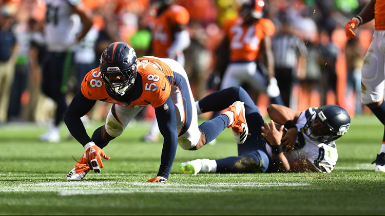 Von Miller forced 22 fumbles in seven seasons, then had two more in the opener of season 8 last Sunday against Seattle.