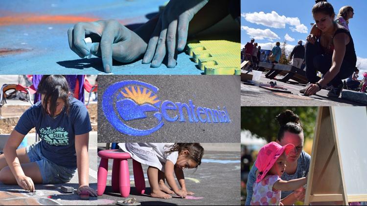Chalk Art Festival collage