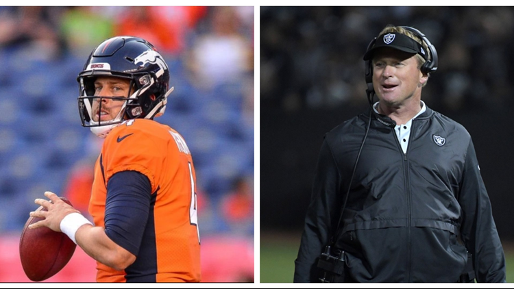 When Keenum's Broncos play Gruden's Raiders at Broncos Stadium at Mile High on Sunday, Denver hopes the former QB camper shows his former QB consultant in person just how much he's learned.