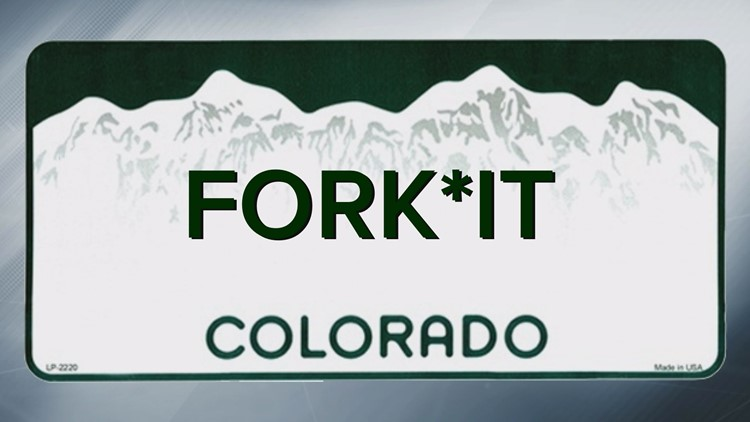 These are all the words Colorado won't allow on a personalized