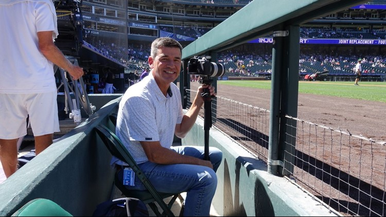 Our Tom Green is much more than just a newsman at 9NEWS. He's also a sports fanatic and avid photographer. Thursday, he was given the opportunity to take photos of the NL West-leading Colorado Rockies.